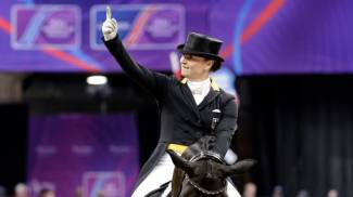 German Olympians Isabell Werth and Weihegold Old back to top FEI Dressage World Rankings