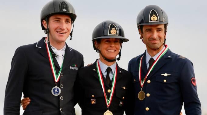 Il podio tricolore assoluto 2018 (ph. Leonardo Caprai)