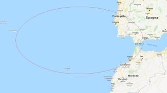 Nel cerchio, la zona delle ricerche dell'imbarcazione