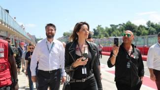 Aida Yespica in Autodromo a Imola (Isolapress)