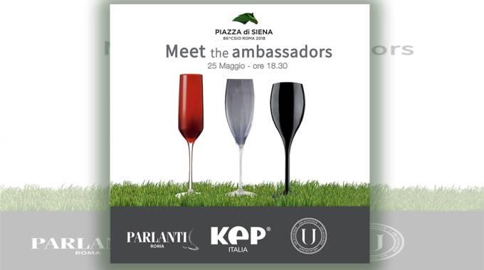 Meet The Ambassador, 25 maggio ore 18:30, Piazza di Siena, Roma