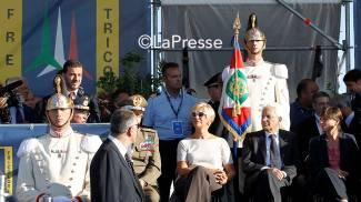 Sergio Mattarella presente a Piazza di Siena