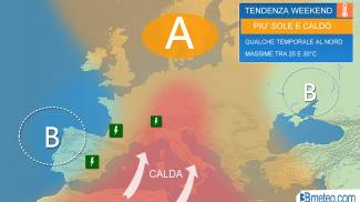 Previsioni meteo weekend 25-27 maggio