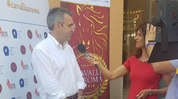 Marco Di Paola alla presentazione di Cavalli a Roma