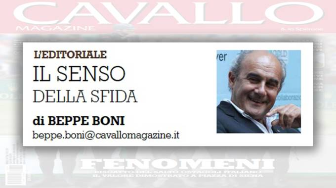 L'editoriale di Beppe Boni di luglio ''Il senso della sfida''
