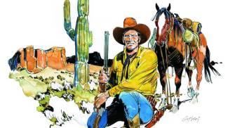 Un disegno di Tex Willer realizzato da Ticci