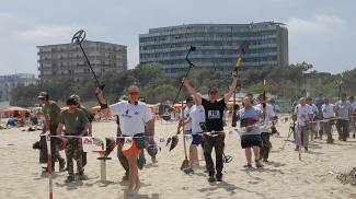Cercatori di tesori in spiaggia