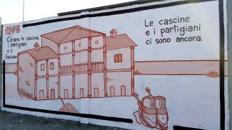 Il murales antifascista di Rouge ad Arconate