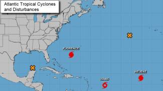 Gli uragani nell'Atlantico (National Hurricane Center)