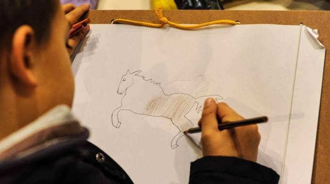 I disegni dei bambini festeggiano i 120 anni di Fieracavalli (© Foto Veronafiere-ENNEVI)