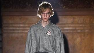 Un modello di Gucci sfila a Parigi (Getty Images for Gucci)