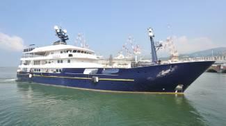 Il Force Blue, il mega yacht di Flavio Briatore (Ansa)