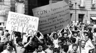 Napoli, protesta dopo l'epidemia di colera del 1973