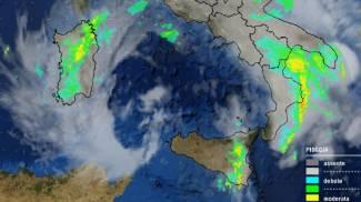 Meteo, maltempo in Calabria, il radar nella mattinata di venerdì 5 ottobre