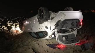 La Bmw 320 dopo lo schianto e Ioan Mihalyi, romeno di 33 anni, metalmeccanico di San Giorgio, che è stato sbalzato fuori dall'auto rimanendo ucciso sul colpo