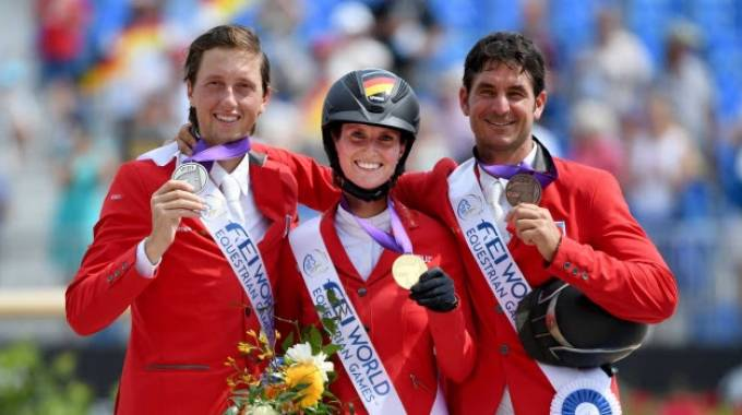 Simone Blum, Martin Fuchs e Steve Guerdat presenti al Jumping Verona ©Parker/Fei
