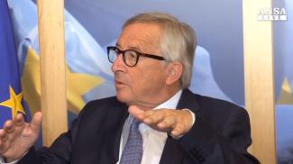 Un frame del video Ansa, Jean Claude Juncker