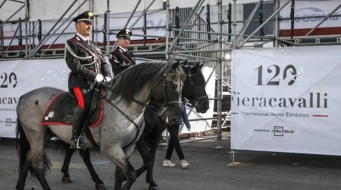 Carabinieri alla 120° Fieracavalli, foto Massimo Argenziano
