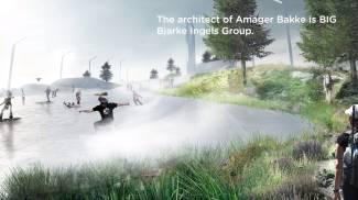 Il progetto della pista da sci sull'inceneritore di Copenaghen (Frame video Amager-Bakke)