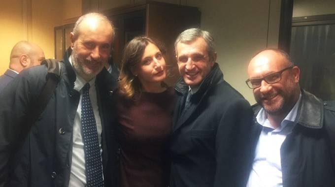 Emilio Minunzio, Catia Brozzi, Marco Di Paola e Alessandro Silvestri, foto Fise