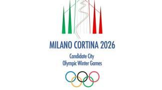 Il logo di Milano-Cortina 2026