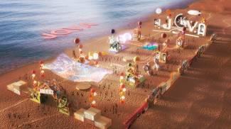 Il rendering di come sarà il villaggio del 'Jova beach party'