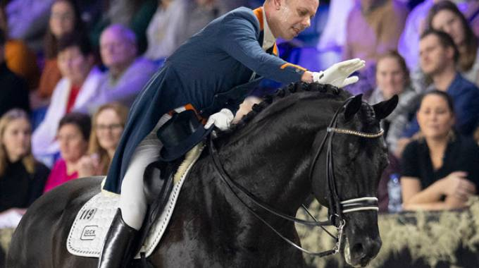 Hans Peter Minderhoud on Glock's Dream Boy NOP - Jumping Mechelen 2018 ©Fei/DCamerans