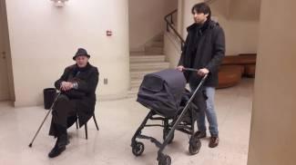 La conferenza di Dionigi, Vittorio Ciarrocchi tra il pubblico
