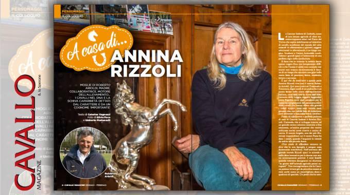 A casa di Annina Rizzoli, Cavallo Magazine gennaio/febbraio 2019, in edicola dal 3 gennaio