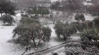 Neve nelle prime ore del mattino