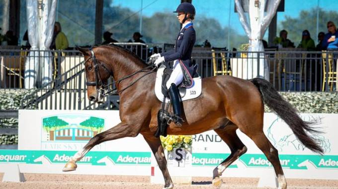 Laura Graves and Verdades won the Grand Prix CDI-W at the Adequan®Global Dressage Festival