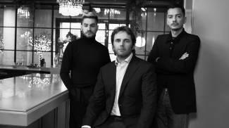 Gianguido Tarabini e i designers Mirko Fontana e Diego Marquez