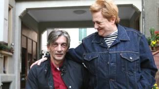 Alberto Torregiani con la mamma Elena (Newpresse)