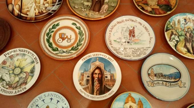 Alcuni dei piatti della Festa di Sant'Antonio, foto di Maria Cristina Magri