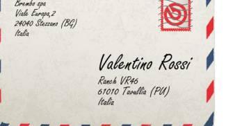 Lettera per Valentino Rossi (Foto sito internet Brembo.com)