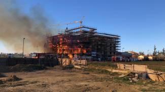 Incendio a Castenaso