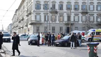 Torino, un uomo di 34 anni è stato accoltellato in centro (Ansa)