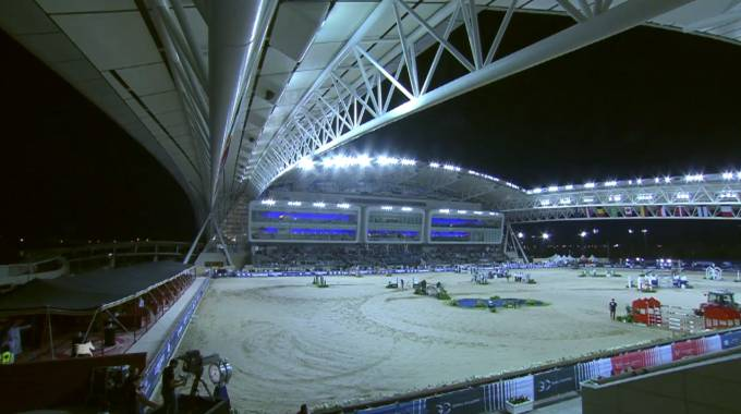 Il campo di gara a Doha (ph. LGCT Live TV)