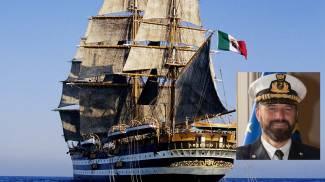 La nave Vespucci e Gianfranco Bacchi