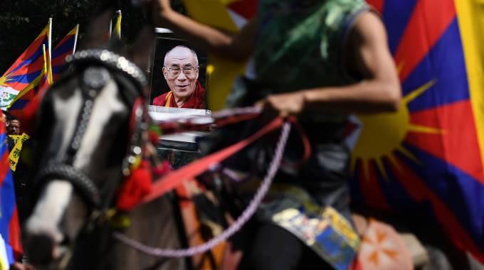 Top shot per Marwari e Dalai Lama, photo Sajjad HUSSAIN/AFP