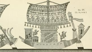 Illustrazioni delle barche descritte da Erodoto (Wikipedia Commons)