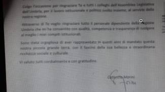 La lettera di dimissioni