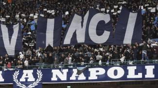 Napoli-Arsenal, gli striscioni allo stadio San Paolo (Ansa)