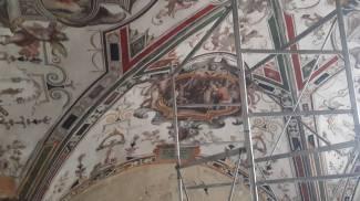 Le decorazioni nella volta di santa Croce a Urbino