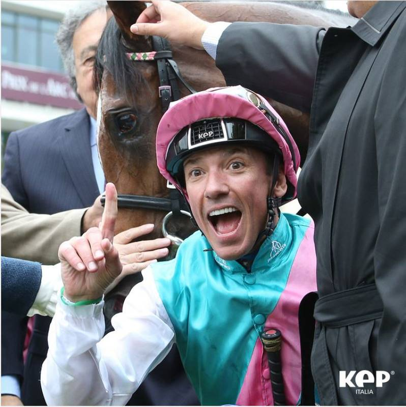 Frankie Dettori e il casco Jockey made by Kep Italia!