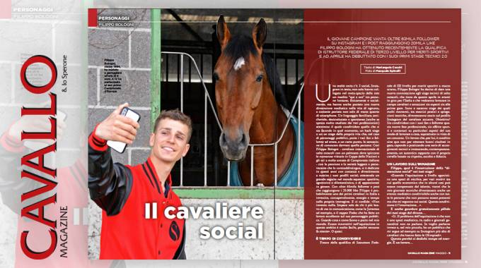 """Chi è il cavaliere più """"social""""? Filippo Bologni!"""