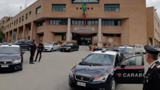 La caserma dei carabinieri di Siena dove si trova Armando Del Re