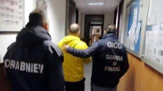 L'arresto di Armando Del Re (Ansa)