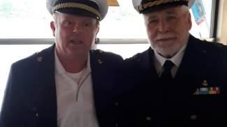 Il capitano Giuliano Landini con Pagliai