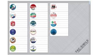 Circoscrizione I, scheda elettorale grigia